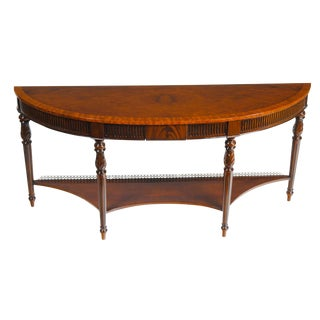 Long Mahogany Console For Sale