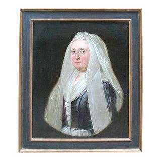 18th Century Dutch Portrait of Mrs. Victoria Walsh For Sale
