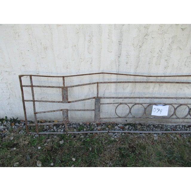 Victorian Antique Victorian Iron Gate Window Garden Fence Architectural Salvage Door #079 For Sale - Image 3 of 6