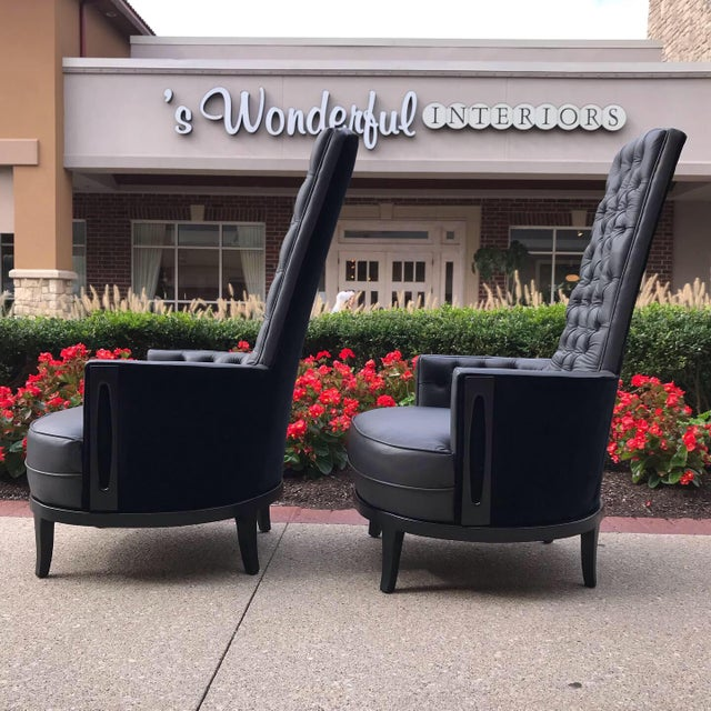 Beautifully restored pair Adrian Pearsall chairs with 8 way tied springs and all new foam and cotton batting. Button...