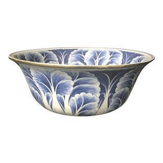 Large Chinese Porcelain Blue and White Bowl For Sale
