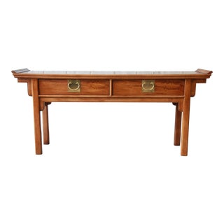 Vintage Chinoiserie Console Table by Century Furniture For Sale