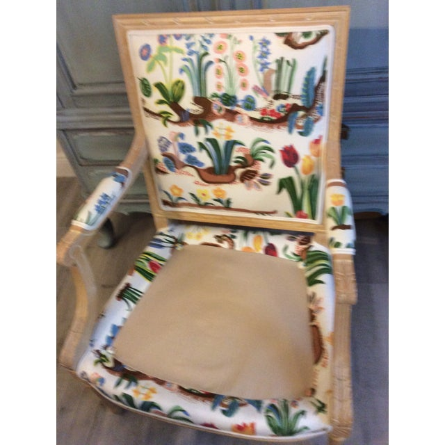 1980s Vintage Swedish/French Bergere Style Chair For Sale - Image 9 of 12