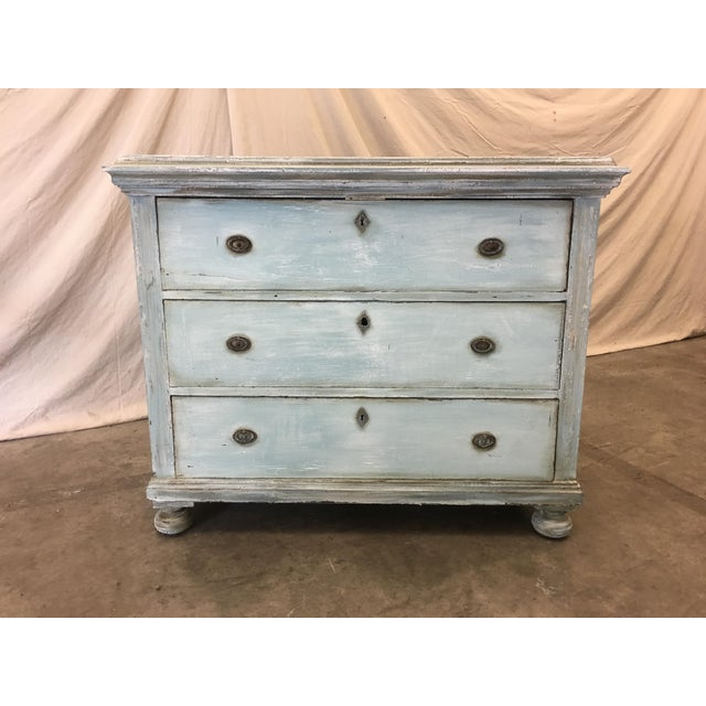 18th C French Painted Commode Dresser For Sale - Image 11 of 13