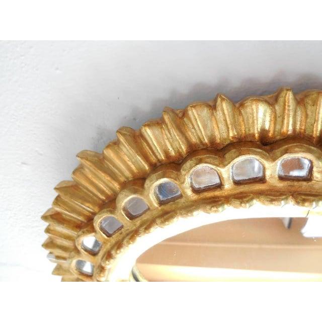 French Gold Gilt Wood Starburst Sunburst Mirror For Sale - Image 4 of 11