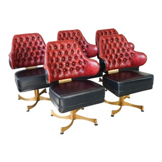 1960s Gasser Swivel Lounge Chairs- Set of 5 For Sale