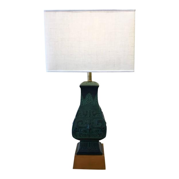 Bronze Table Lamps in the Manner of James Mont - A Pair - Image 1 of 9