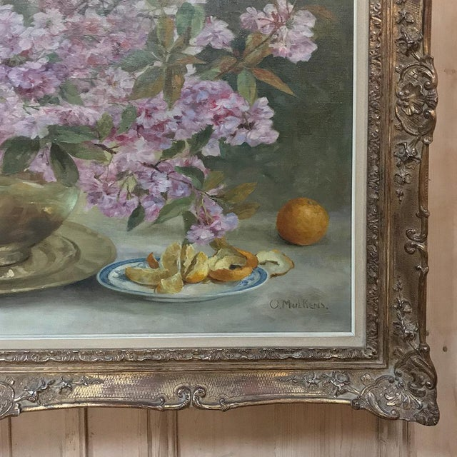 1950s Russian Framed Oil Painting on Canvas For Sale - Image 5 of 11