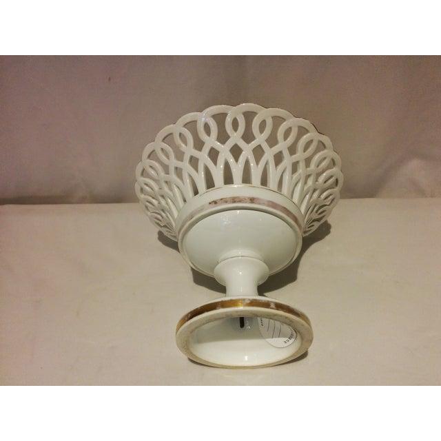 Antique Parisian White Porcelain Fruit Basket - Image 5 of 9