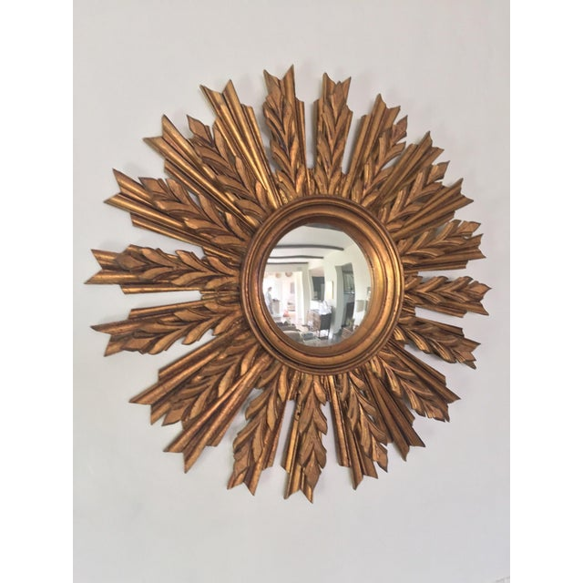 Wooden Sunburst Mirror - Image 4 of 11