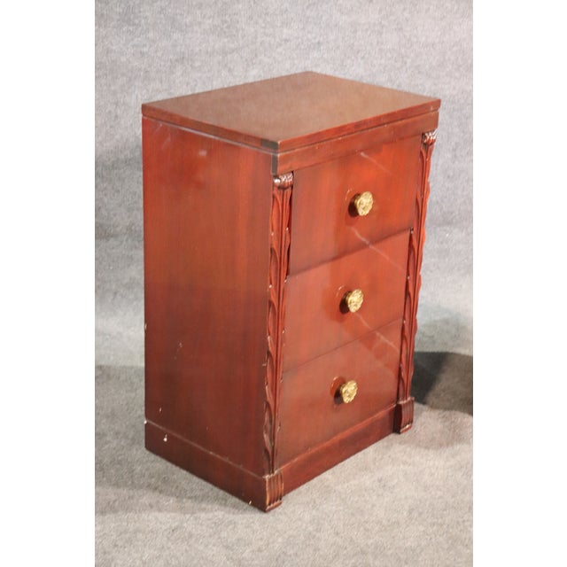 Mid 20th Century Pair of John Stuart Hollywood Regency Mahogany Nightstands Night Tables For Sale - Image 5 of 10