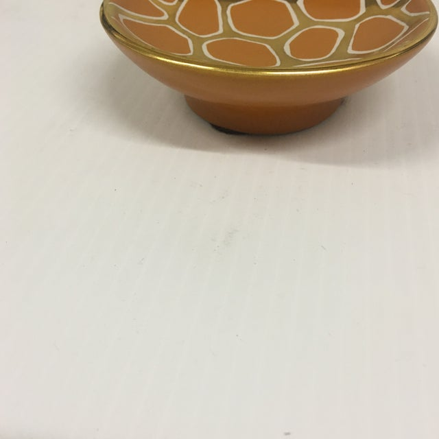 Waylande Gregory Contemporary Giraffe Pattern Bowl For Sale - Image 4 of 6