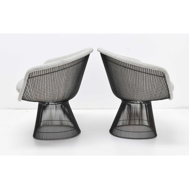 Metal Pair of 1960s Bronze Warren Platner Lounge Chairs For Sale - Image 7 of 12