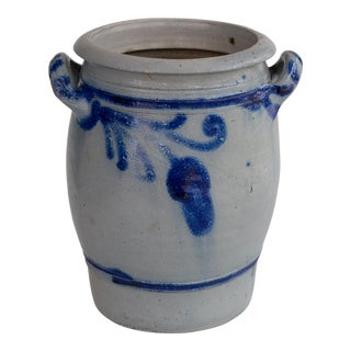 Antique Westerwald German Stoneware Crock For Sale