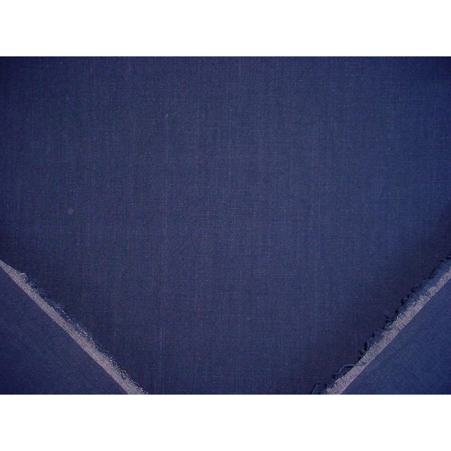 Traditional Ralph Lauren Papyrus Terry Indigo Blue Cotton Drapery Upholstery Fabric- 9-3/4 Yards For Sale - Image 3 of 5