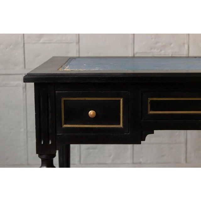 Wood 1920s French Ebonized Mahogany Writing Desk For Sale - Image 7 of 13
