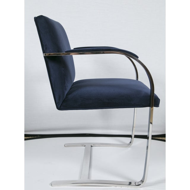 Brno Flat Bar Navy Velvet Chairs - S/6 For Sale In New York - Image 6 of 9