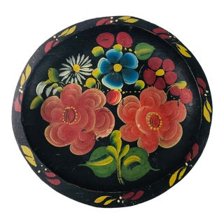1950s Vintage Mexican Folk Art Batea Bowl For Sale