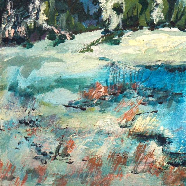 1960's Mountain Stream Painting by Marion Miller - Image 5 of 6
