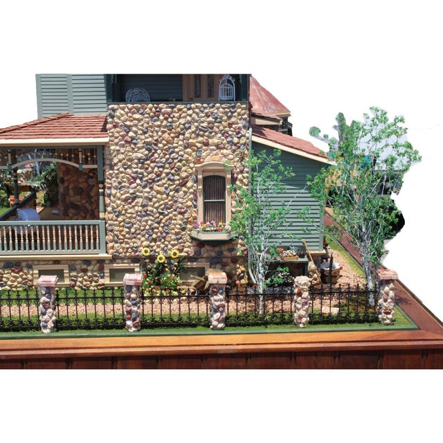 Massive 7 Foot With Case Doll House From the Heritage Museum l.a on S. Calif. Architecture For Sale - Image 4 of 11