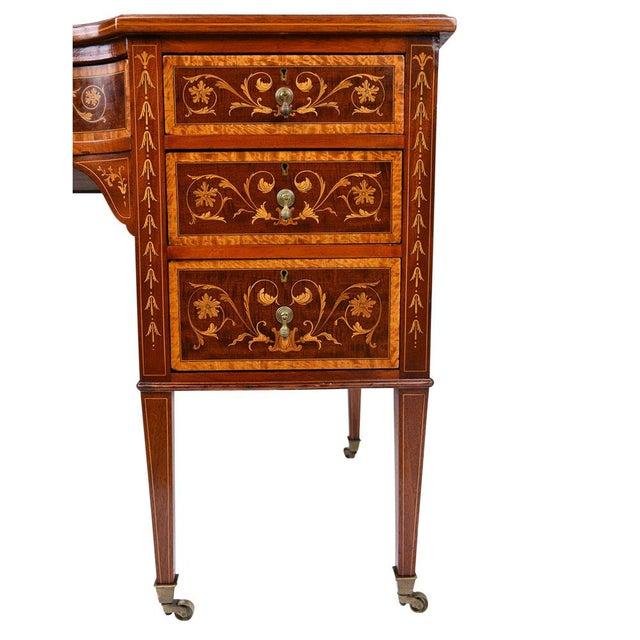 Antique Edwards & Roberts English-Style Desk - Image 8 of 11