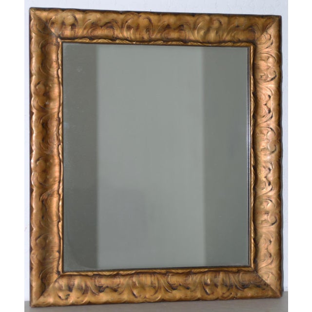 Gold Art Nouveau Carved & Gilded Frame with Mirror C. 1890 to 1910 For Sale - Image 8 of 8