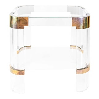 Lucite End Table by Charles Hollis Jones
