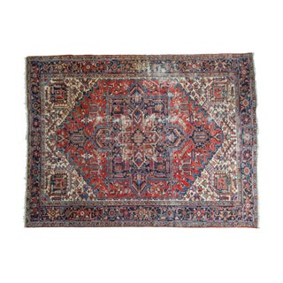 "Vintage Distressed Heriz Carpet - 8'11"" X 11'10"""