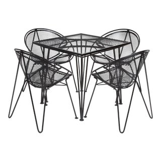 "Four-Seat ""Radar"" Patio Dining Set by Maurizio Tempestini for Salterini For Sale"