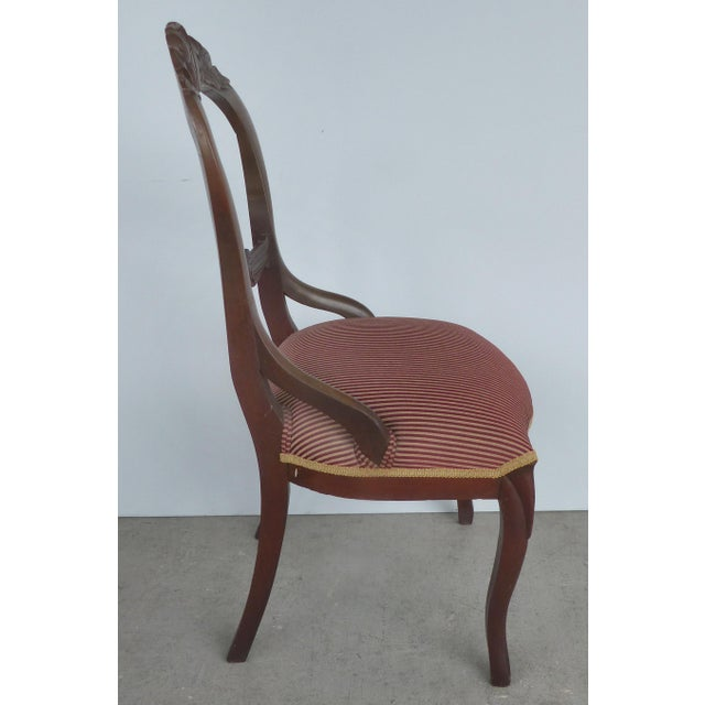Balloon Back Dining Chairs-A Pair For Sale - Image 4 of 12