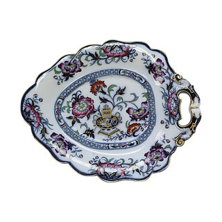 Antique English Ironstone Serving Dish For Sale