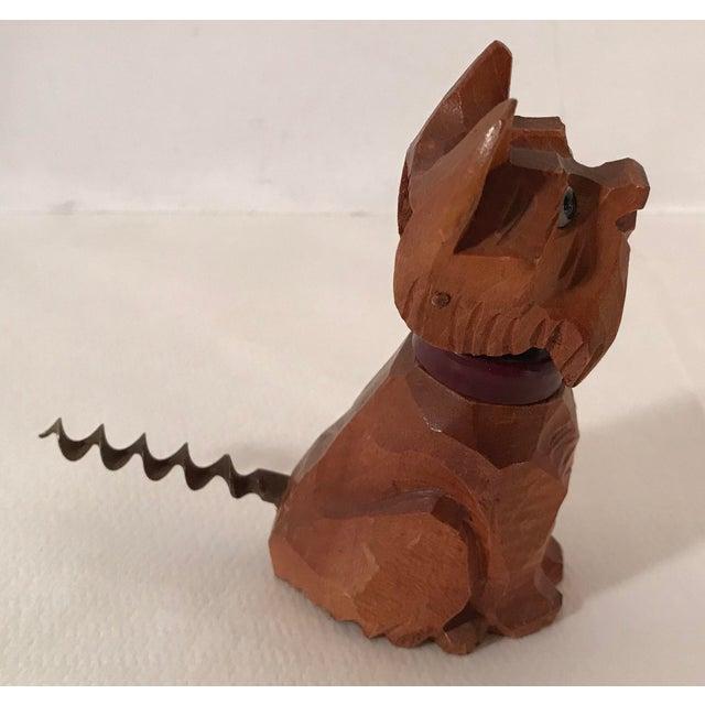 Figurative Vintage Carved Wooden Scottie Dog Figural Corkscrew For Sale - Image 3 of 8