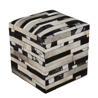 Cool Cowhide Ottoman For Sale
