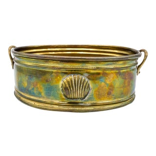 Vintage Brass Shell Planter For Sale