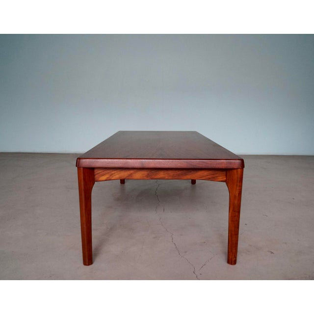 Mid-Century Danish Modern Rosewood Coffee Table For Sale - Image 9 of 12