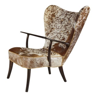 Wingback Chair by Madsen & Schubell For Sale