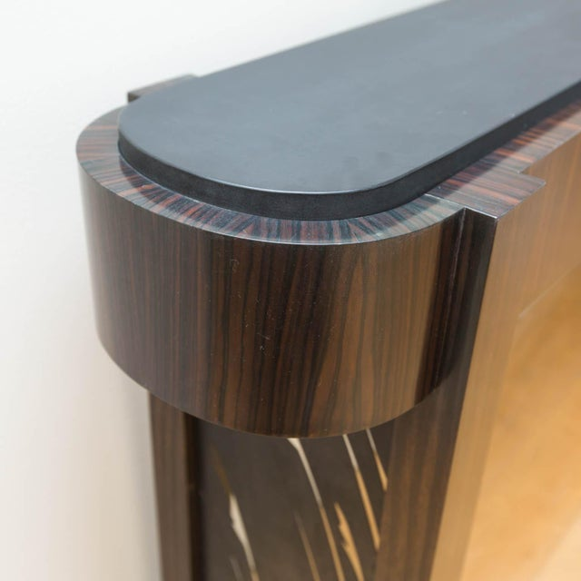 Macassar Ebony and Patinated Steel Console Table by Gregory Clark For Sale - Image 4 of 8