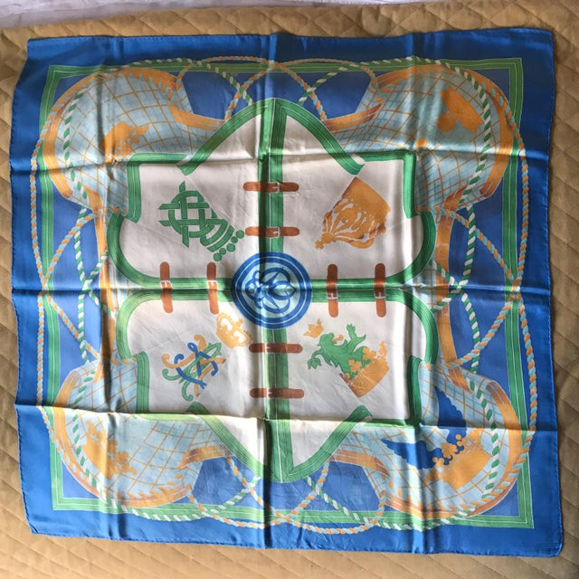 Hermès - The Silk Road, Scarf Collection. 90-by-90 centimeter. Silk Carrè, printed in Lyon on twill made by thread created...