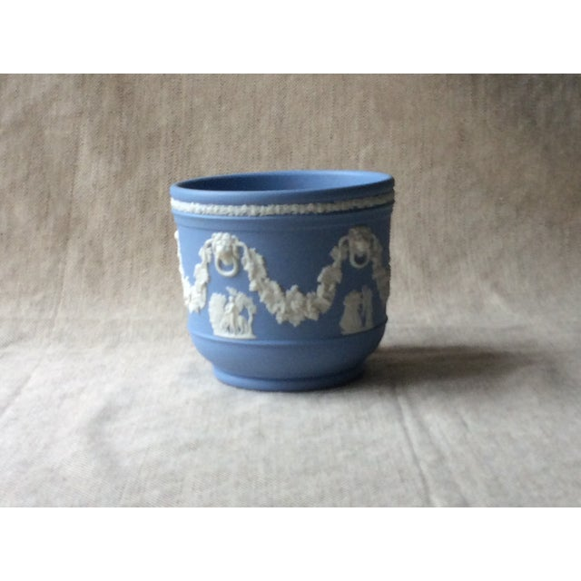 Wedgewood Blue Jasperware Cachepot For Sale - Image 10 of 10