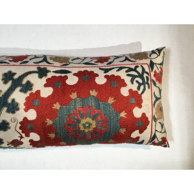 1960s 1960s Mediterranean Hand Embroidery Suzani Pillow For Sale - Image 5 of 11