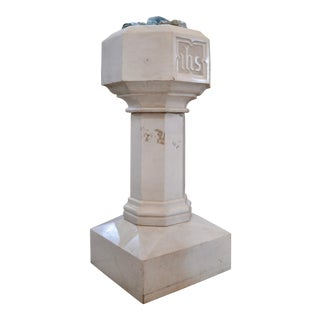 Carrara Marble Baptismal Font For Sale