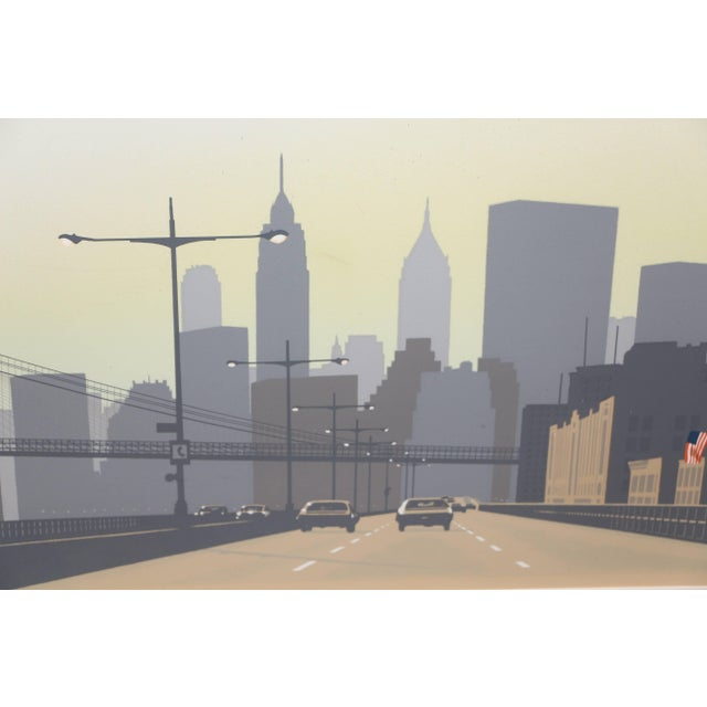 A nice serigraph by the noted New York artist Howard Kanovitz (1929-2009). it is from the early 1970s and features the...