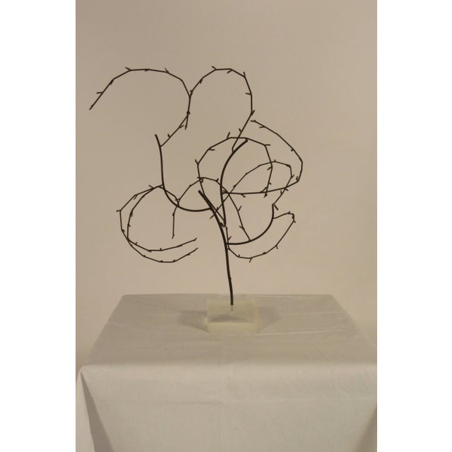 1970s Free-Form Abstract Sculpture on Lucite Base For Sale - Image 4 of 10