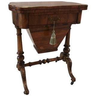 19th Century French Rosewood Game Chess Table For Sale