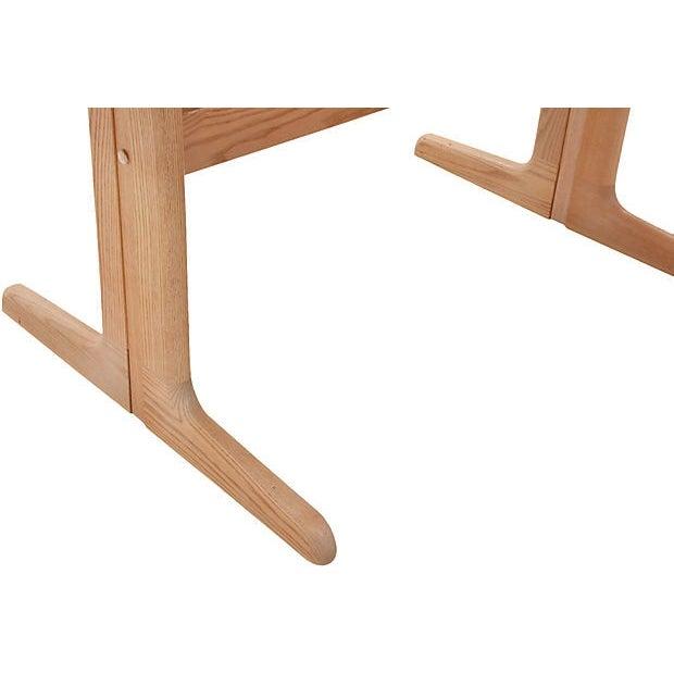 Mid-Century Modern Trestle Table - Image 6 of 7