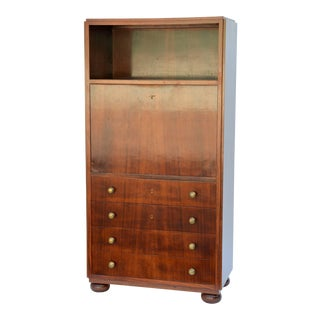 1930s Exceptional French Art Deco Secretary Cabinet For Sale