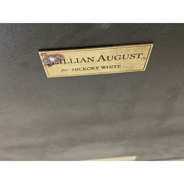 Metal Lillian August Wrought Iron and Glass Demilune Console Table For Sale - Image 7 of 8