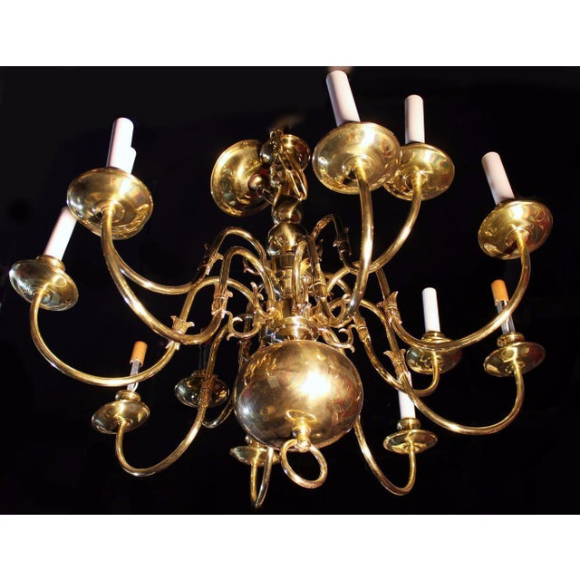 Brass Colonial Williamsburg Brass Chandelier For Sale - Image 7 of 7