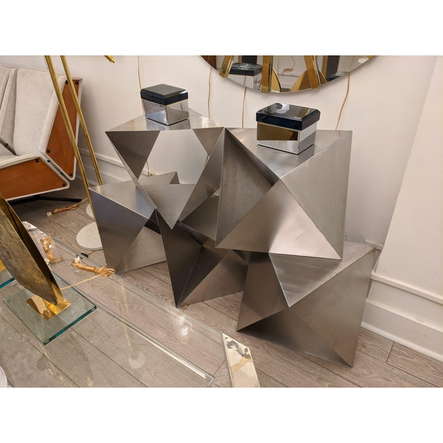 Modular Polyhedron Side Tables by Manfredo Massironi For Sale In New York - Image 6 of 12