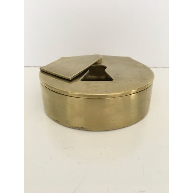 Mid-Century Virginia Metalcrafters Solid Brass Padlock Ashtray/Catchall For Sale - Image 6 of 13